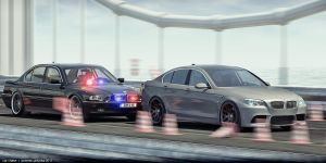 bmw car chase by domino3d