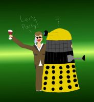 Drunk Doctor with a Dalek by thenextdoctor42