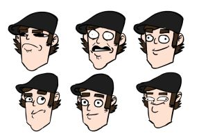 Practice Heads by myhelmethazstickers
