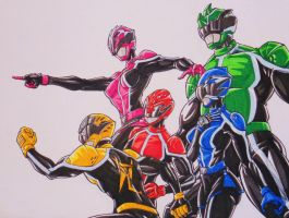 Shockenger team, let's go!!! by kishiaku