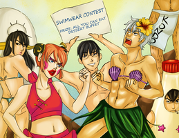 Gintama Powa Mini Contest: SwimWear Contest by frozentofu