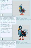Seaffin and Seanella fakemon by byona
