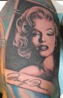 Marylin Tattoo by catbones