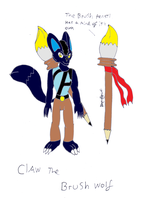Claw the brush wolf by pd123sonic