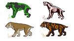 Saber-toothed cats adoptable by Domisea