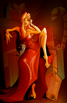 Holiday 2016 Pinup by jwebsterart
