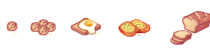 Pixel Food - Batch 2 by lanternlovers