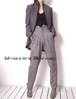 Grey Wool High Waist Pants 1 by yystudio