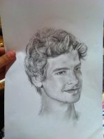 Andrew Garfield Penci Drawing by katbell17