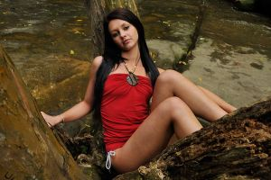 Tara - red top in tree 3 by wildplaces