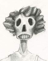 Skull Girl Portrait by benjaminography
