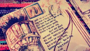Lady of shalott book inking by imo-drama-queen