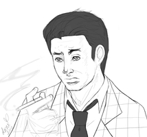 Fallout: NV - Smoking Benny by 400-rabbits