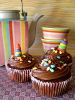 Smartie Cupcakes by apparentlyjessy