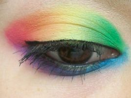 The Famous Rainbow eyes by BOOMBOXMAKEUP