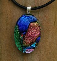 Fused Glass Collage Oval 1 by FusedElegance
