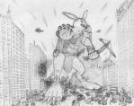 Bow Before The Big Bad Bunny!! by manaista