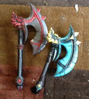 WOW battle axe set by spgraphix