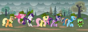My little outdoor training by Culu-Bluebeaver