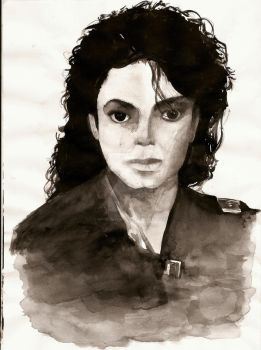 Michael Jackson Bad Portrait by my-beret-is-red