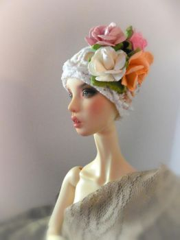 flower headdress by sandykhoury