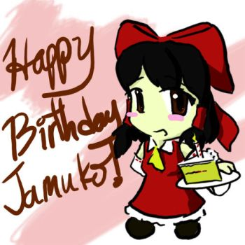 Happy Birthday Jamukooo by SleepyDoodler