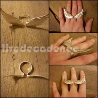 Angel wing - Ring by LiveDecadence