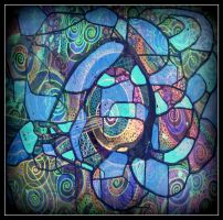 oldpaintingrevisited abstract blue digital by santosam81
