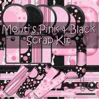 Monti's PinkBlack Scrap Kit by justmonti