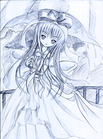 Girl with umbrella by Kudo008