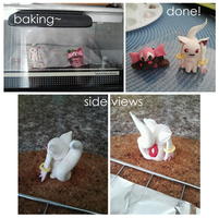 Kyubey and Charlotte Polymer Clay Figurines~* by tianshii