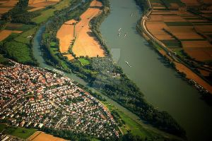 Somewhere over Germany by Malleni