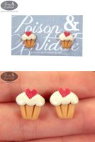 Sweetheart Studs by chat-noir