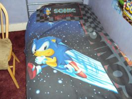 Sonic The Hedgehog Bed Cover by DazzyDrawingN2