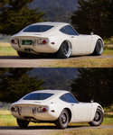 1967 Toyota 2000GT before and after by rubrduk