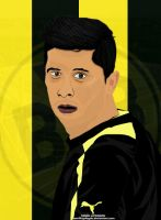 Robert Lewandowski Cartoon by SemihAydogdu