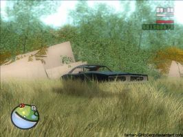 Dodge Charger and Error Project Oblivion Trees by Farhan-GMoDerz