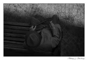 Sitting n' Smoking by black-blur
