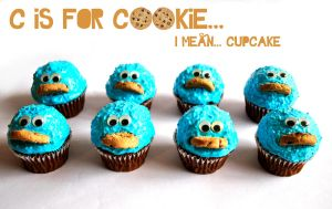 C is for Cookie.. I mean.. Cupcake by GeorgieM-onster