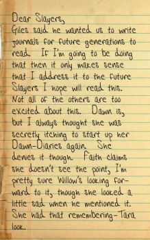 Buffy's Journal Entry 1 Pg 1 by Her-Beta