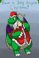 A Shiny Dragonite's Christmas Flight by WolfKat777