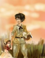 Spain and little Romano by luiganddaisy