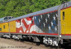 American Flag Passenger Car on SCBME 11 by EternalFlame1891