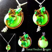 Forest Dragon Wrap Pendant by LittleCLUUs