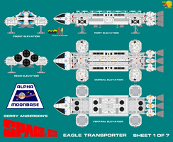 Gerry Andersons Space 1999 Eagle Transporter 1 of  by ArthurTwosheds