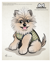 Dog Caricature Vector by timmcfarlin