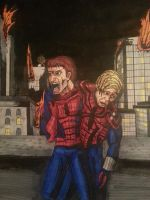 Wounded Spiderman by Skoolnik