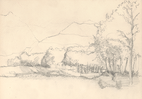 Countryside Landscape (sketch phase) by KatyAmlie