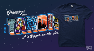 T-Shirt: Greetings from the TARDIS by dontblinktees