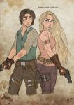 The Walking Disney : Rapunzel and Flynn by Kasami-Sensei